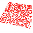 Monochromatic red QR code 2 — Stock Photo
