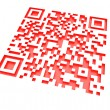 Stock Photo: Monochromatic red QR code 2