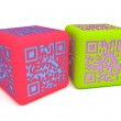 Colorful QR cubes 1 — Stock Photo #12898872