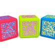 Stock Photo: Colorful QR cubes 2