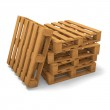 Three pallets stack — Stock Photo #14710203