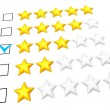 Three stars rating — Stock Photo