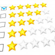 Five stars rating — Stock Photo