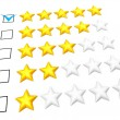 Five stars rating - Stock Photo