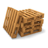 Three pallets stack — Stock Photo