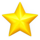 Single yellow star — Stock Photo