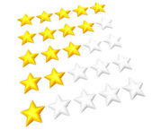 Star rating set — Stock Photo
