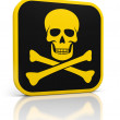 Stock Photo: Skull danger icon