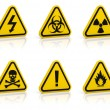 Warning signs set — Stock Photo