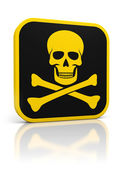 Skull danger icon — Stock Photo