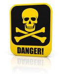 Skull danger sign — Stock Photo