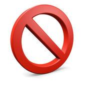 Red round forbidden symbol 2 — Stock Photo