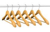 Grucce in legno su rotaia 2 — Foto Stock