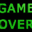 GAME OVER green text 1 — Stock Photo