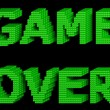 GAME OVER green text 3 — Stock Photo #22507345