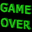 GAME OVER green text 2 — Stock Photo #22507355
