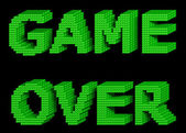 GAME OVER green text 3 — Stock Photo