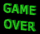 GAME OVER green text 2 — Stock Photo