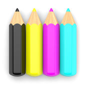 CMYK pencil concept 2 — Stock Photo