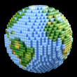Pixelated Earth concept — Stock Photo