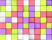 Cubes abstract background random color — Foto Stock
