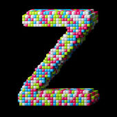 3d pixelated alphabet letter Z — Stock Photo
