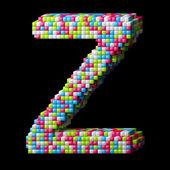 3d pixelated alphabet letter Z — Stock Photo