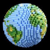 Pixelated Earth concept — Stock Photo