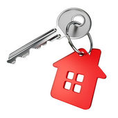 Red house key — Stock Photo