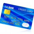 Blue credit card — Foto Stock