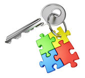 Key to maze concept — Stock Photo