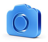 Blue camera icon — Stock Photo