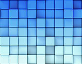 Abstract blue background made of cubes — Stock Photo