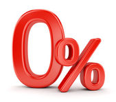 Zero percent symbol — Stock Photo