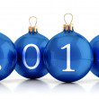 Stock Photo: 2014 New year group of balls