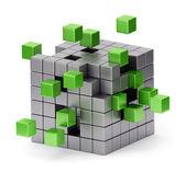 Assembling cube concept — Stock Photo