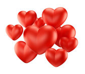 Red hearts group — Stock Photo
