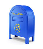 Blue e-mail postbox — Photo