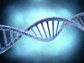 DNA molecule over abstract background — Stock Photo