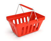 Red shop basket — Stock Photo