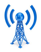 Blue antenna icon — Stock Photo