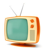 Vintage TV set on white — Stock Photo