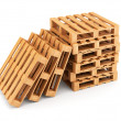 Wooden pallets stack — Stock Photo #41839255