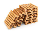 Wooden pallets stack — Stock Photo