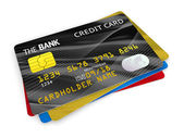 Group of credit cards — Stock Photo