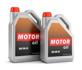 Two bottles of motor oil — Stockfoto