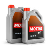Two bottles of motor oil — Stock Photo
