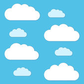 Vector clouds and sky background — Stockvektor