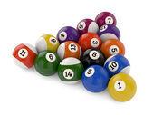 Pool balls triangle group — Stock Photo