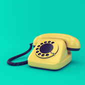 Yellow retro telephone — Stock Photo